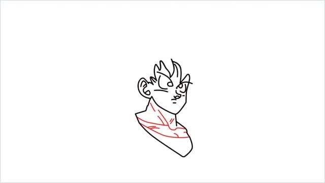 How to Draw Goku step (6)