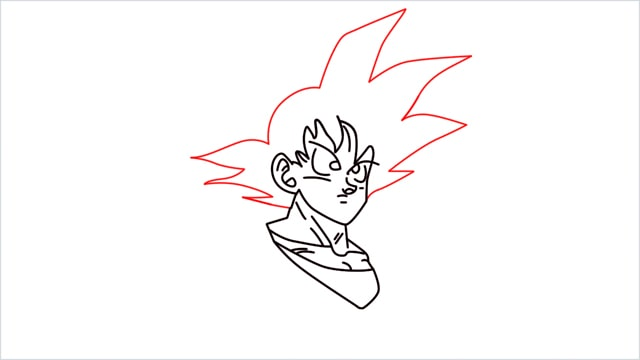 How to Draw Goku step (7)