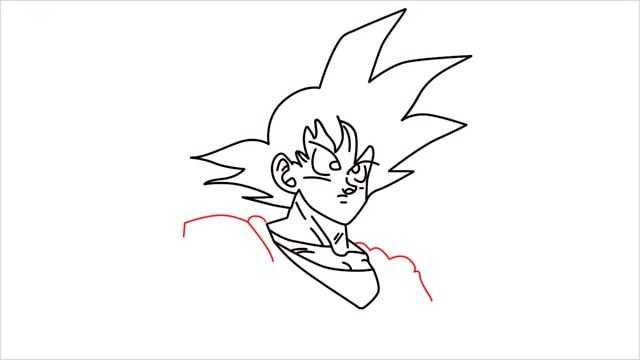 How to Draw Goku step (8)