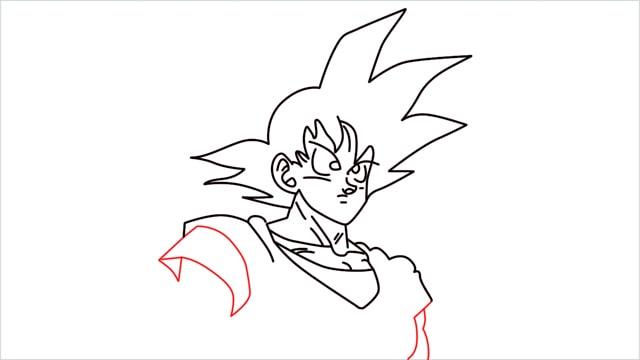 How to Draw Goku step (9)
