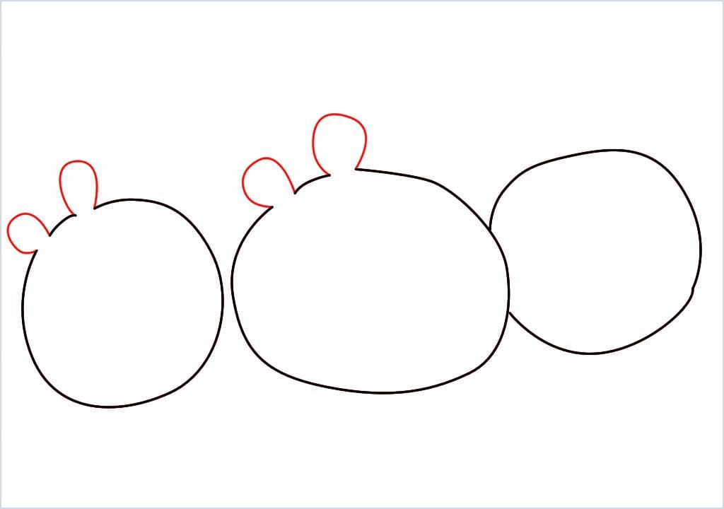 How to Draw a pig of angry bird step (2)