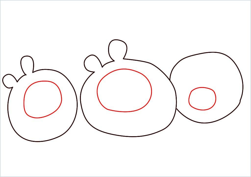 How to Draw a pig of angry bird step (3)