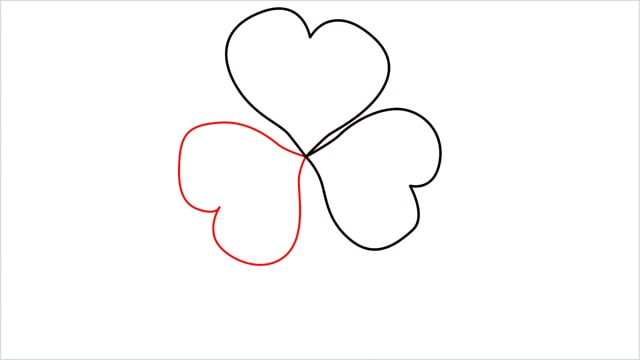 How to draw a shamrock step (3)
