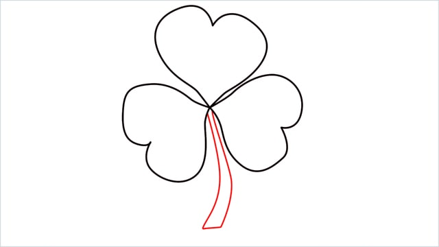 How to draw a shamrock step (4)