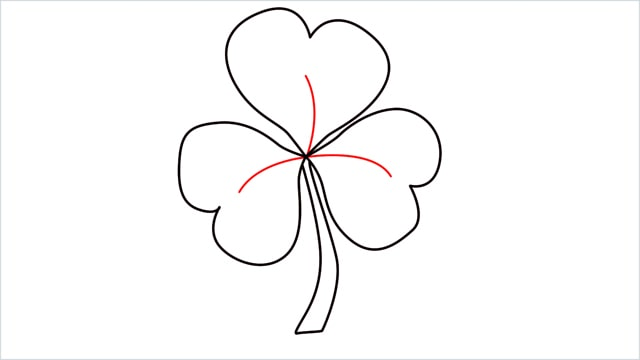 How to draw a shamrock step (5)