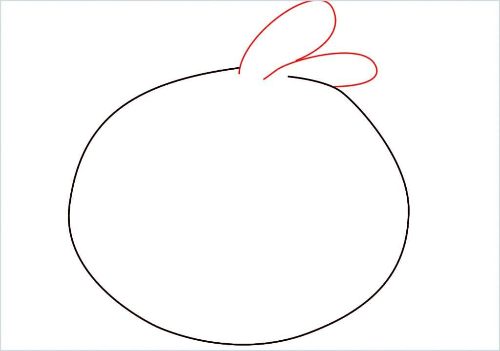 How to draw blue angry bird step (2)
