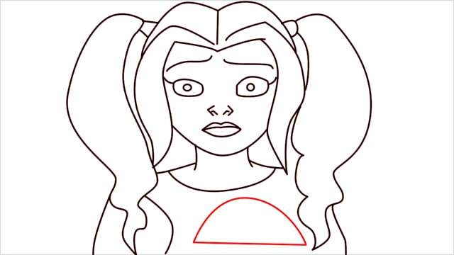 How to draw harley quinn step (12)