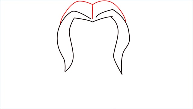 How to draw harley quinn step (3)