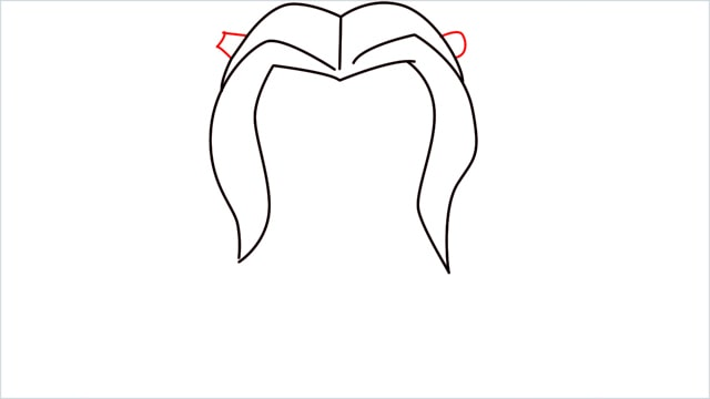 How to draw harley quinn step (4)