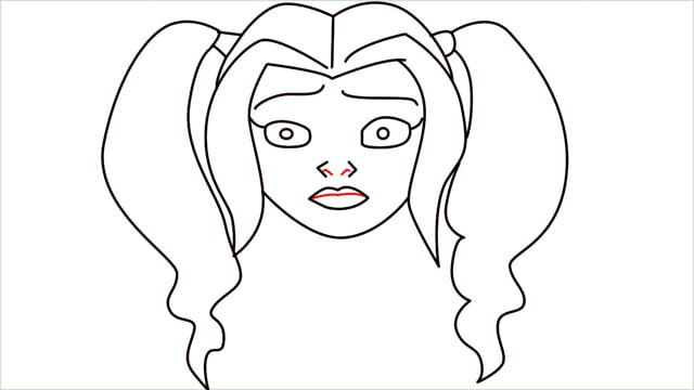 How to draw harley quinn step (9)