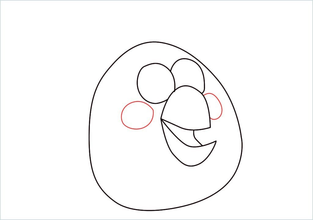 How to draw matilda angry bird step (6)