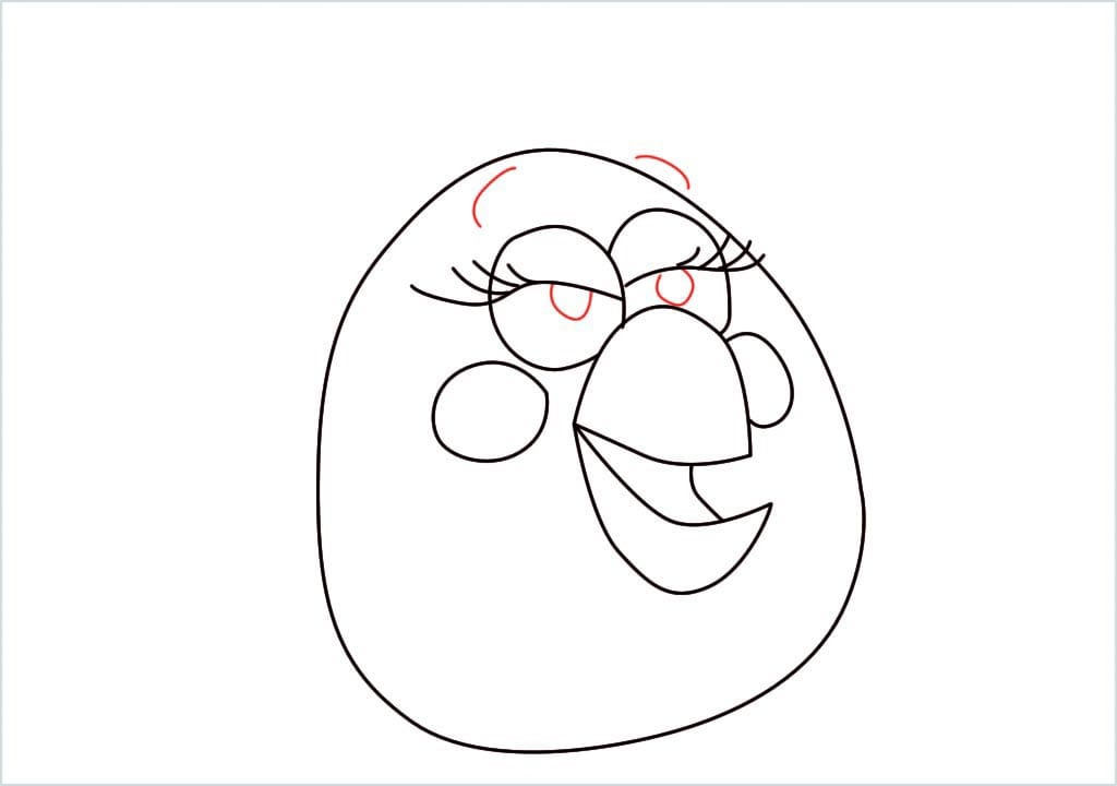 How to draw matilda angry bird step (8)