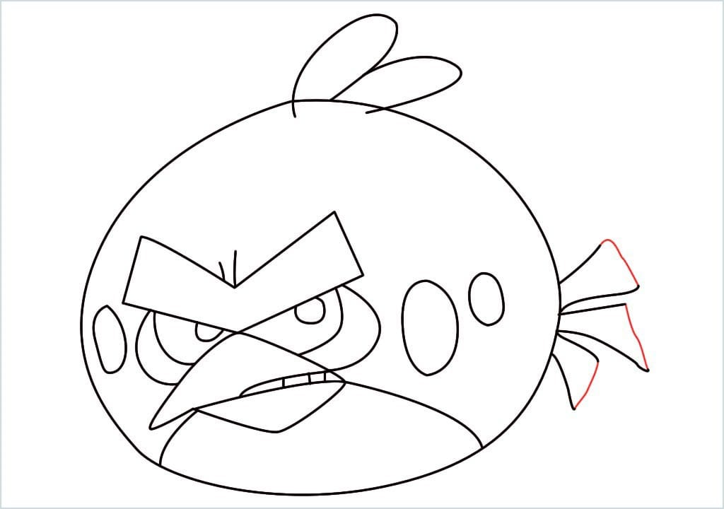 How to draw red angry birds step (12)