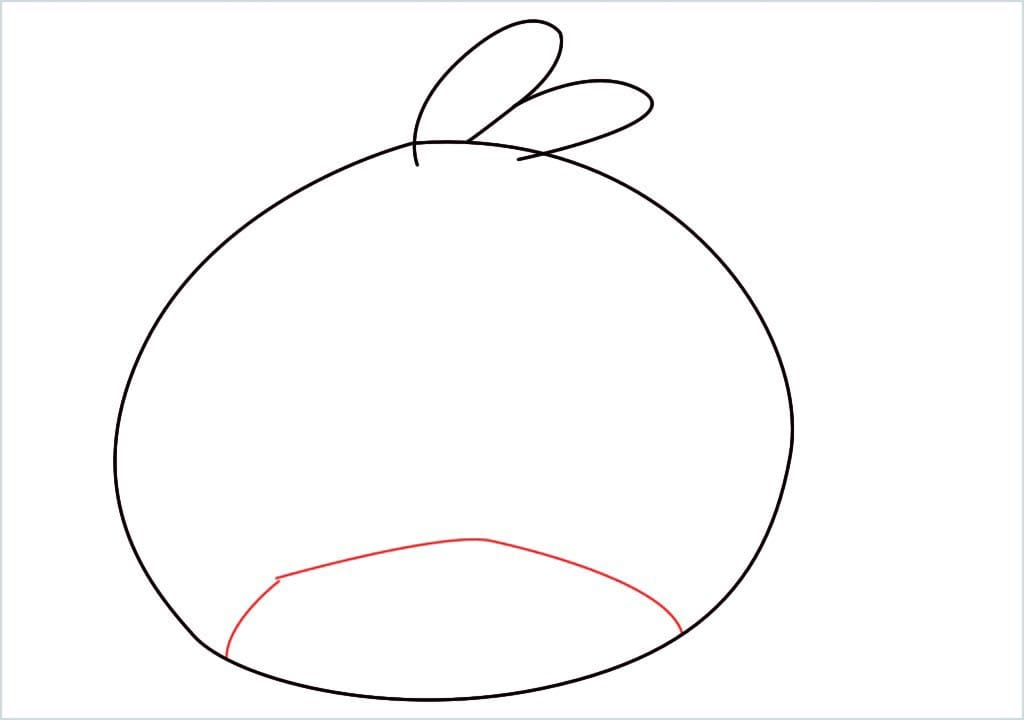 How to draw red angry birds step (3)