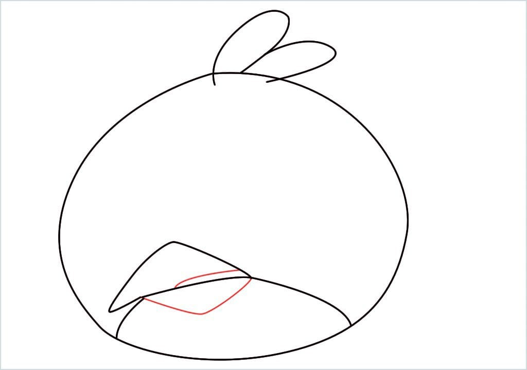 How to draw red angry birds step (5)
