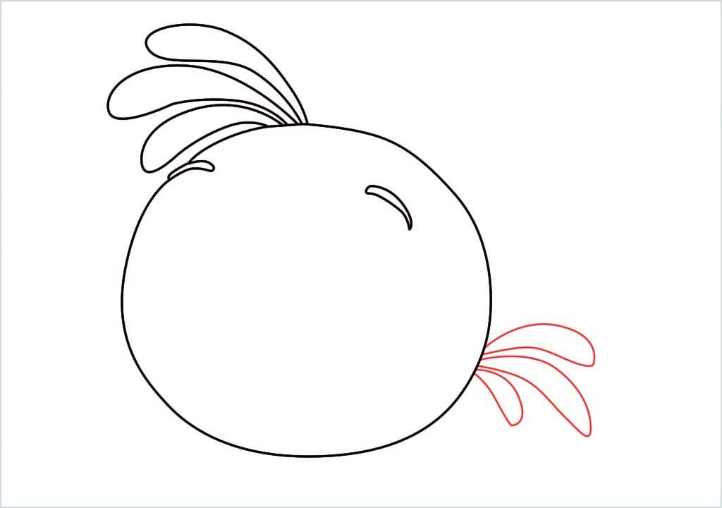 How to draw stella angry bird step (4)