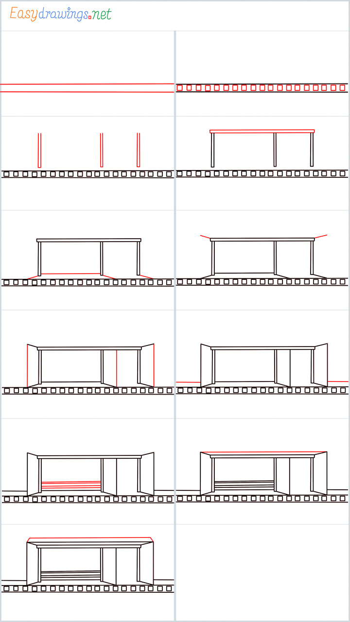 Overview included for Bus stop drawing