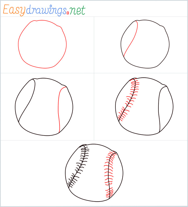 Overview included for Baseball drawing