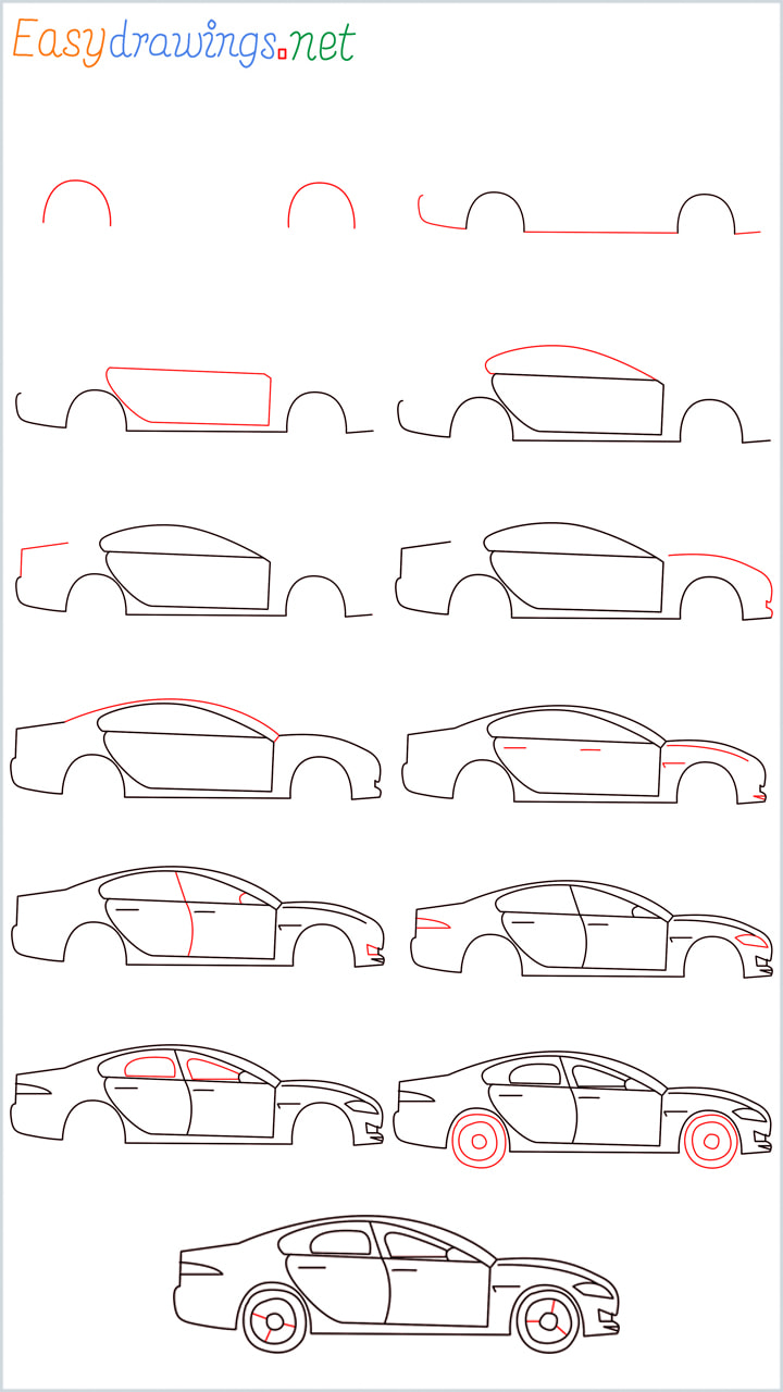 Overview of Car Drawing Tutorial