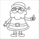 Santa claus draw