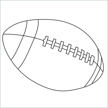 How To Draw A Rugby Ball Step By Step For Beginners 7 Easy Phase