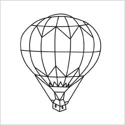 hot air balloon drawing1