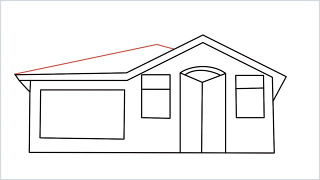 how to draw a House step (10)