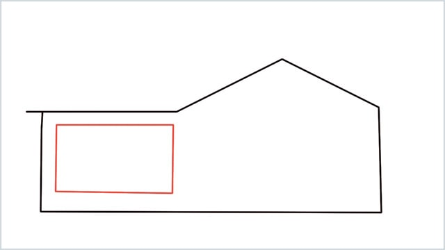 how to draw a House step (3)