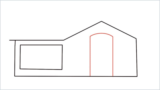 how to draw a House step (4)
