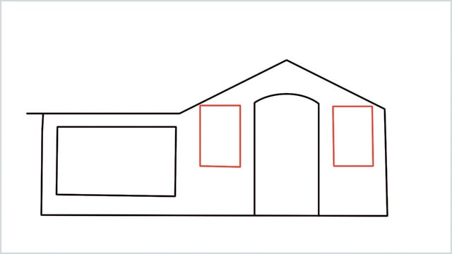 how to draw a House step (5)