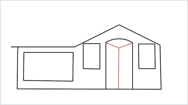 how to draw a House step (6)