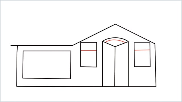 how to draw a House step (7)