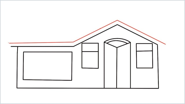 how to draw a House step (8)