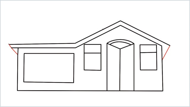 how to draw a House step (9)