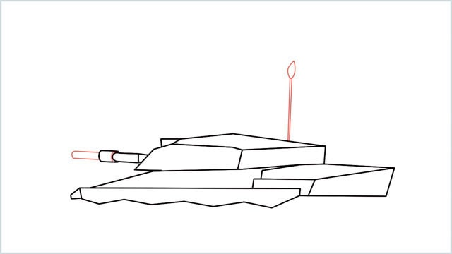 how to draw a army tank step (10)