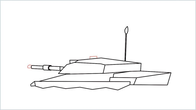 how to draw a army tank step (11)