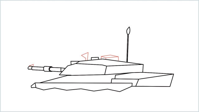 how to draw a army tank step (12)