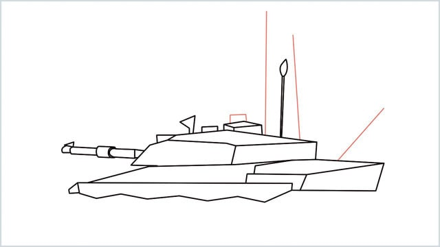 how to draw a army tank step (13)