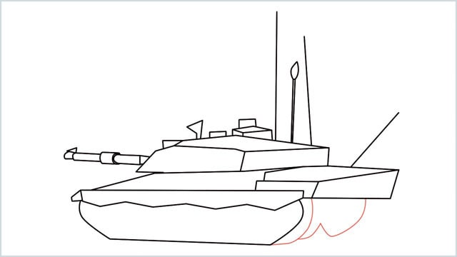 how to draw a army tank step (15)