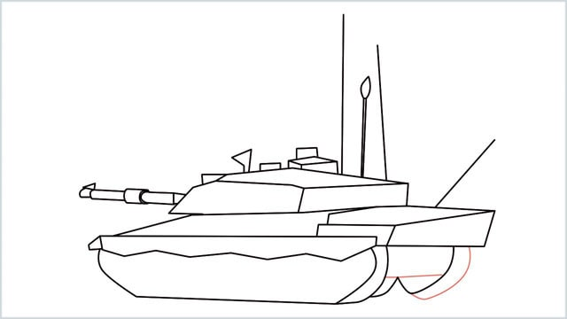 how to draw a army tank step (16)