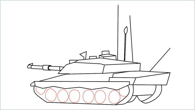 how to draw a army tank step (17)