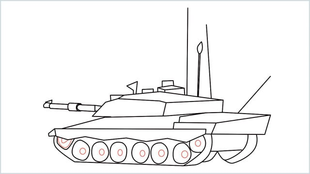 how to draw a army tank step (18)