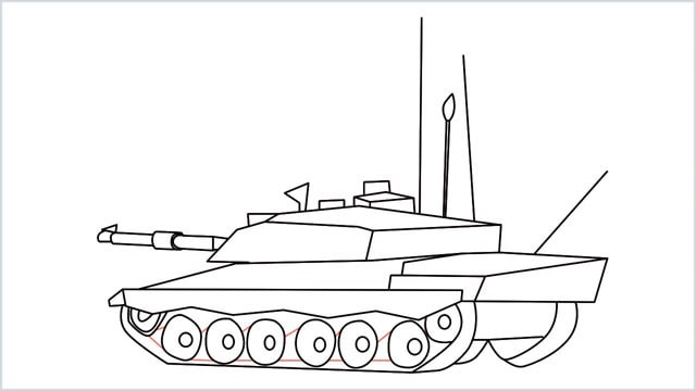 how to draw a army tank step (19)