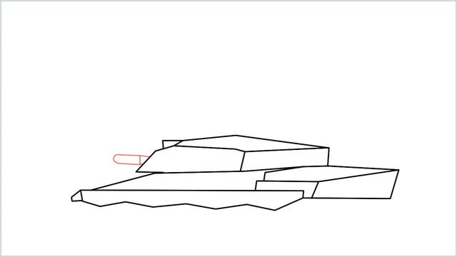 how to draw a army tank step (8)