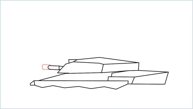 how to draw a army tank step (9)