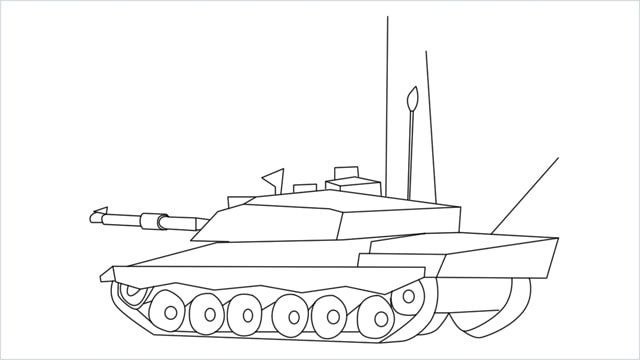 how to draw a army tank