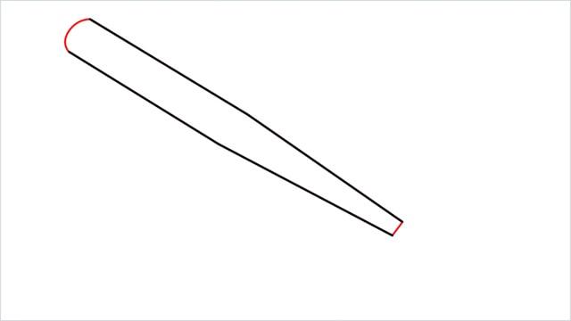 how to draw a baseball bat step (3)
