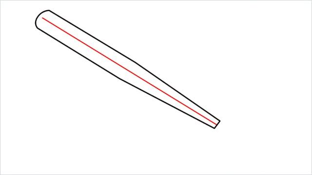 how to draw a baseball bat step (4)