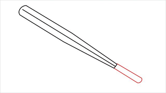 how to draw a baseball bat step (5)