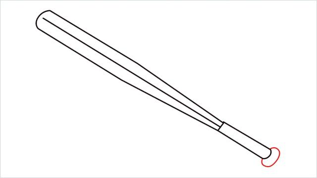 how to draw a baseball bat step (6)